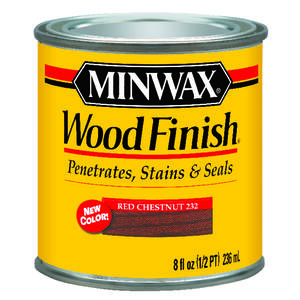Minwax  Wood Finish  Transparent  Red Chestnut  Oil Based  Wood Stain