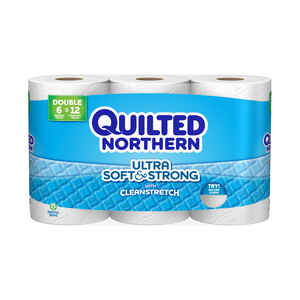Quilted Northern  Toilet Paper  6 roll 242 sheet 117.33 SQFT