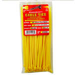 Tool City  8 in. L Yellow  Cable Tie  100 pk