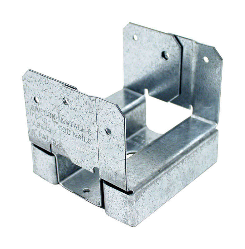 Simpson Strong-Tie  ZMAX  3.63 in. H x 4 in. W 16 Ga. Galvanized Steel  Standoff Post Base