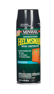Minwax  Helmsman  Satin  Indoor and Outdoor  Spar Urethane  Satin  Clear  11.5 oz.