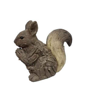 Infinity  Cement  Brown  15.67 in. Squirrel  Statue