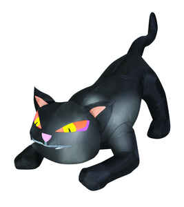 Gemmy  Inflatable Cat  Lighted Halloween Decoration