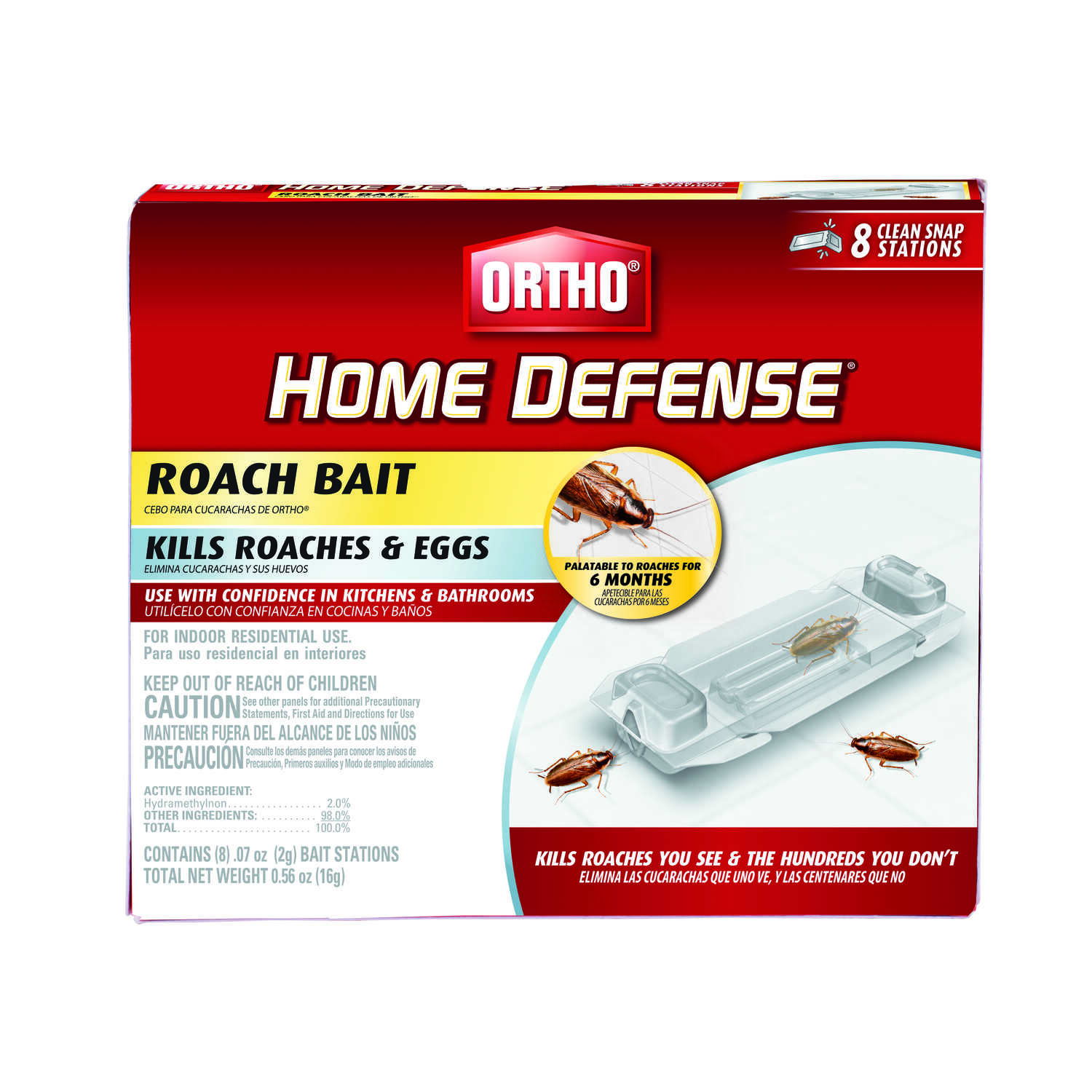 Ortho  Home Defense  Roach Bait Station  8 pk