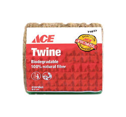 Ace  1/4 in. Dia. x 208 ft. L Natural  Twisted  Jute  Twine