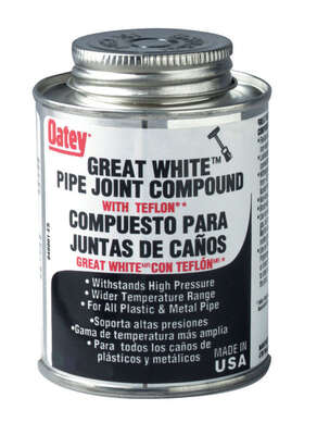 Oatey  Great White  White  Pipe Joint Compound  8 oz.