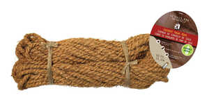 SecureLine  4/25 in. Dia. x 50 ft. L Twisted  Coconut Fiber  Rope  Brown