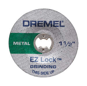 Dremel  1-1/2 in. Dia. x .045 in. thick  Aluminum Oxide  Metal Grinding Wheel  30000 rpm 2 pc. EZ Lo