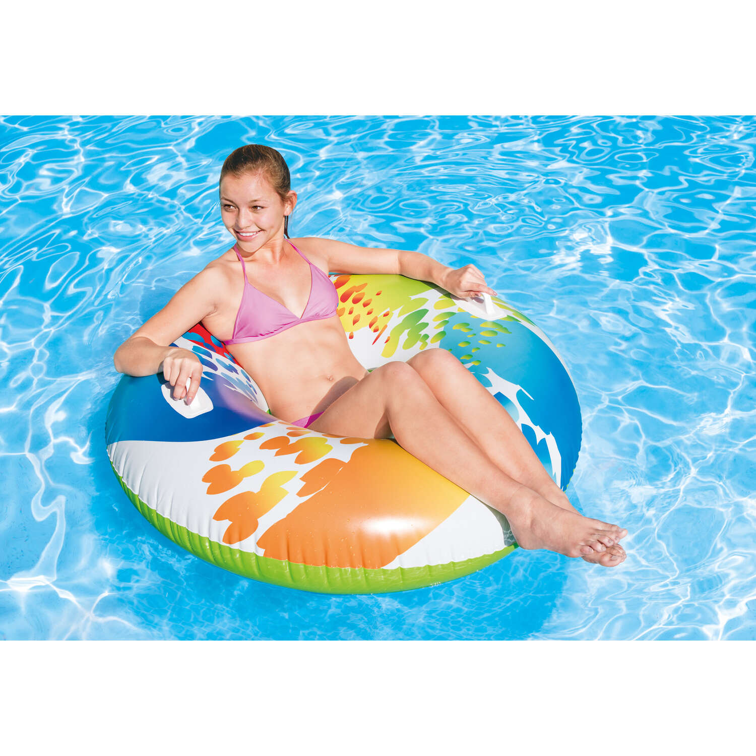 Intex  Multicolored  Vinyl  Inflatable Floating Tube
