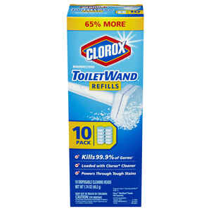 Clorox  No Scent Toilet Wand Refill Heads  1.74 oz. Cloth