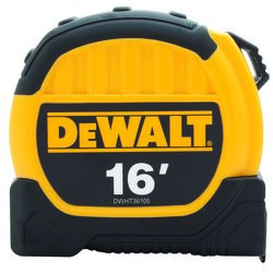 DeWalt  16 ft. L x 1.13 in. W Tape Measure  Black/Yellow  1 pk