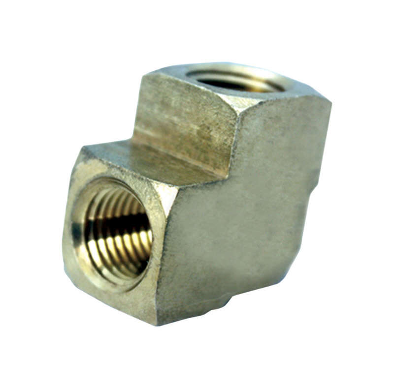 JMF  1/2 in. FPT   x 3/8 in. Dia. FPT  Brass  90 Degree Elbow