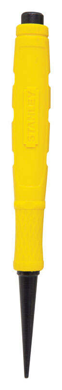 Stanley  Steel  Nail Set  5 in. L Yellow  1 pc.