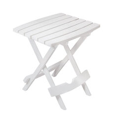 Adams  QuikFold  White  Rectangular  Polypropylene  Folding Side Table