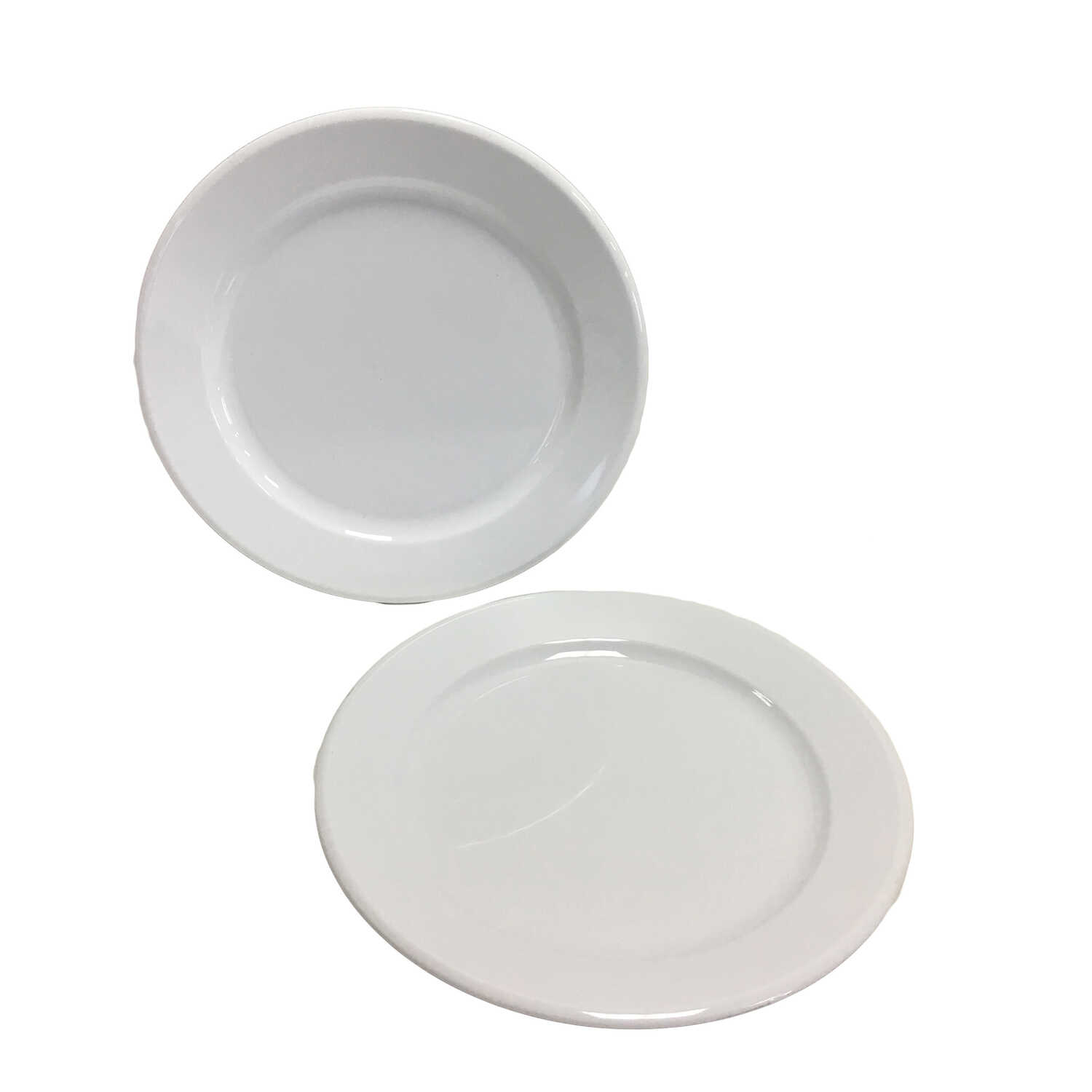Arrow Home Products  Partyware  White  Acrylic  Round  Plate  1 pk