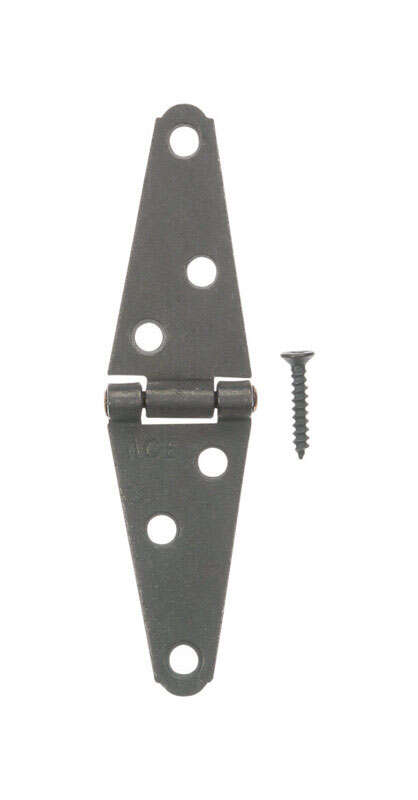 Ace  2 in. L Galvanized  Light Duty Strap Hinge  2 pk