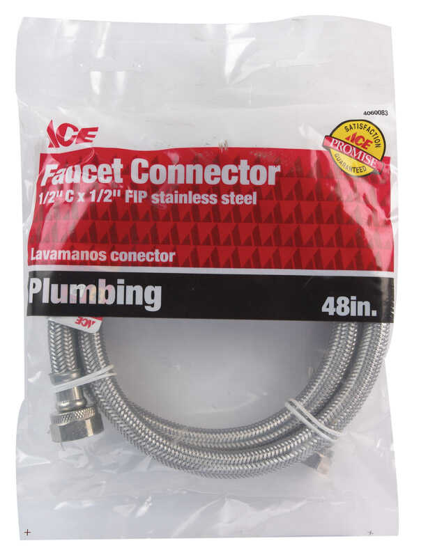 Ace  48 in. Braided Stainless Steel  Supply Line