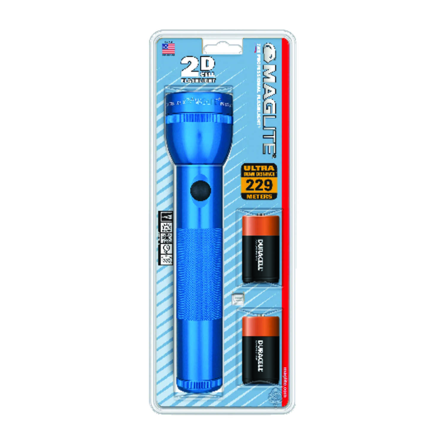 Maglite  19 lumens Blue  Xenon  Flashlight  D