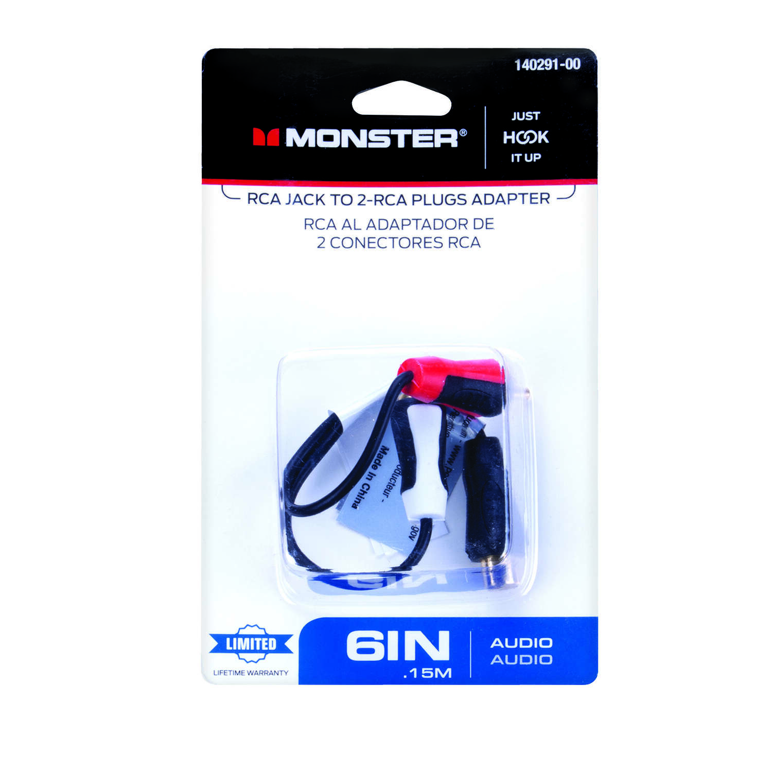 Monster Cable  Just Hook It Up  Adapter Cable  1 each