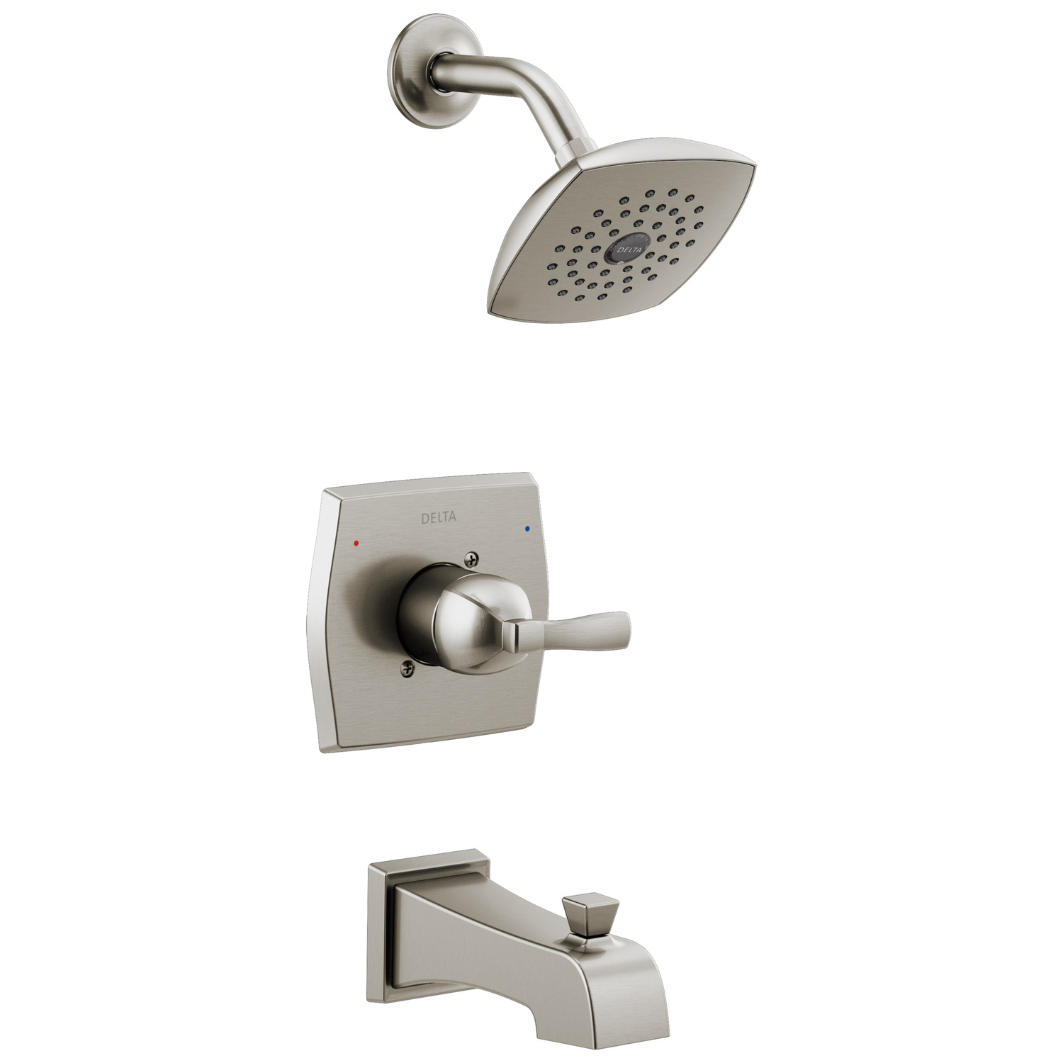 Delta Monitor Flynn 1 Handle Stainless Steel Tub And Shower