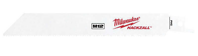 Milwaukee  M12  0.75 in. W x 6 in. L Bi-Metal  HACKZALL  Reciprocating Saw Blade  5 pk 14 TPI