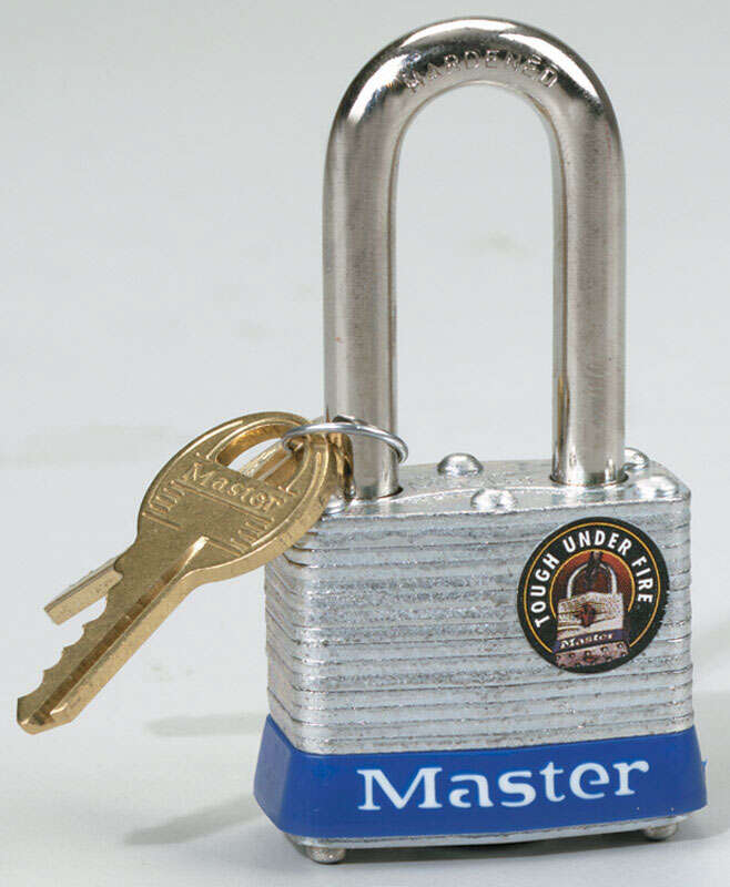 Master Lock  1-5/16 in. H x 1-5/8 in. W Double Locking  Laminated Steel  Padlock  1 each