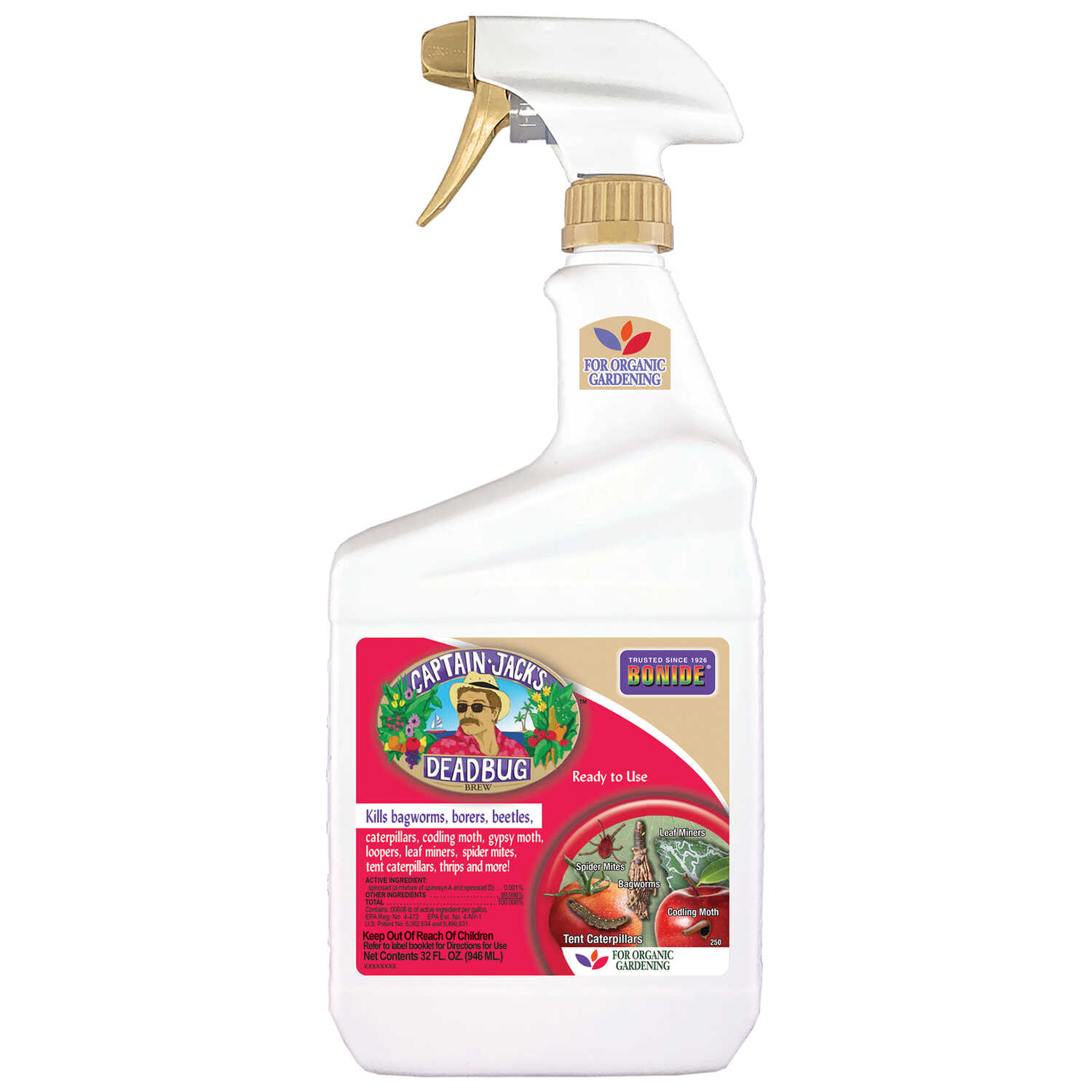 Bonide  Captain Jack's Deadbug Brew  Organic Insect Killer with Spinosad  32 oz.