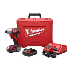 Milwaukee M18 18 volt 1/4 in. Cordless Brushed Impact Driver Kit (Battery & Charger)