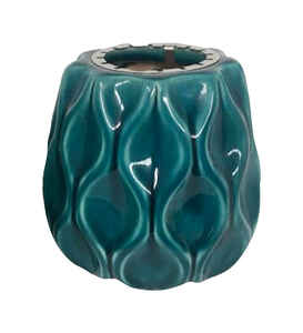 Trendspot  Outdoozie  Stone  Blue  6 in. Wave  Firepot