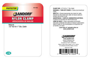 Jandorf  1 in. Dia. Nylon  Cable Clamp  2 pk