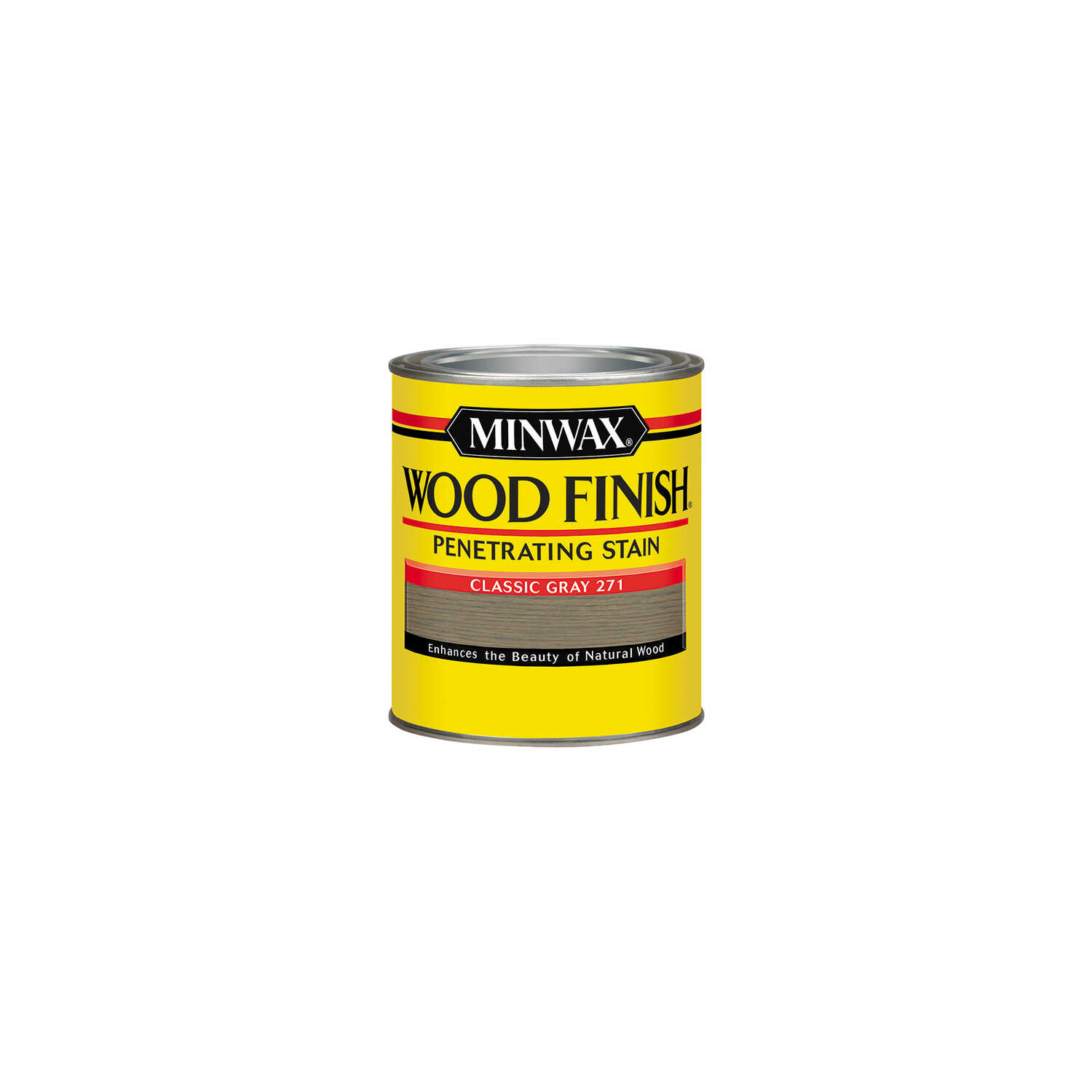 Minwax  Wood Finish  Semi-Transparent  Classic Gray  Oil-Based  Oil  Wood Stain  0.5 pt.