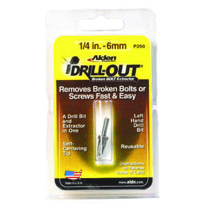 Alden  Grabit Drill-Out  1/4 in.  x 1/4 in. Dia. M2 HSS  Double Ended Bolt Extractor  1 pk