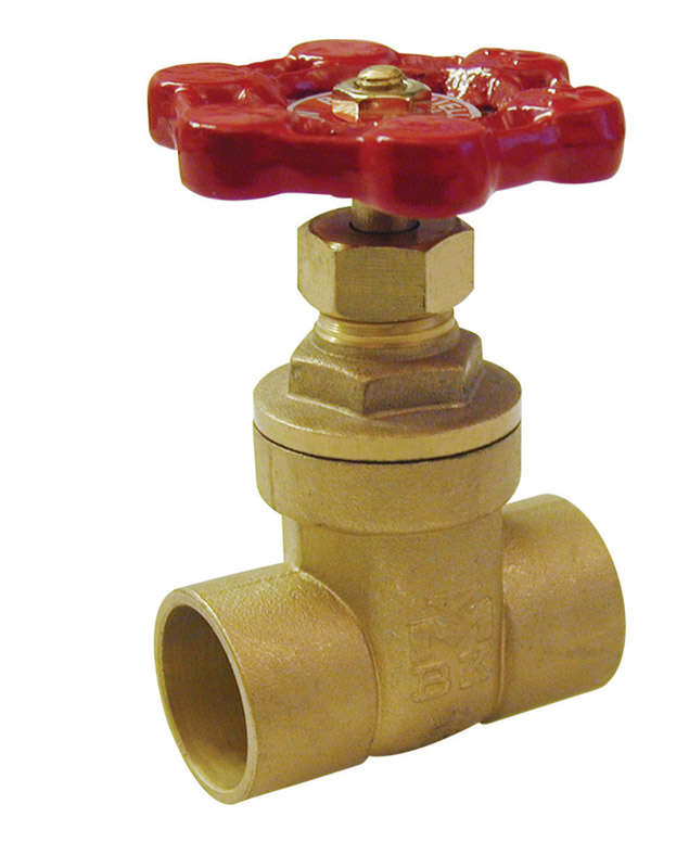 BK Products  ProLine  1 in. Sweat  Brass  Gate Valve  Lead-Free