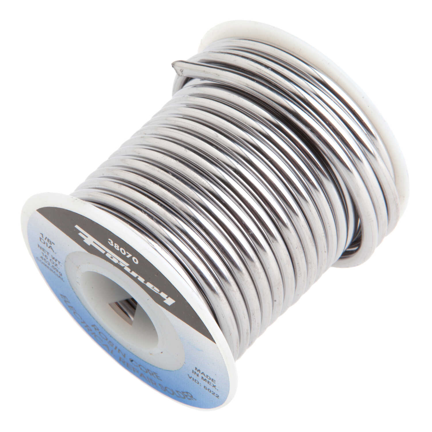 Forney  16 oz. Rosin Core Solder Wire  1/8 in. Dia. 1 pc.