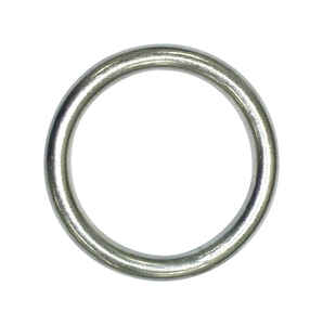 Baron  Large  Nickel Plated  Silver  Steel  2 in. L Ring  1 pk