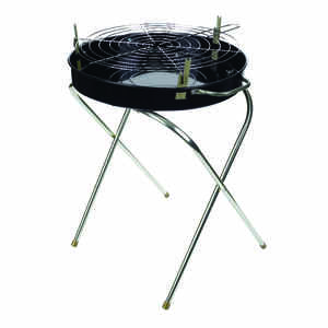 Marsh Allen  Fold-A-Matic  Charcoal  Portable  Grill  Black
