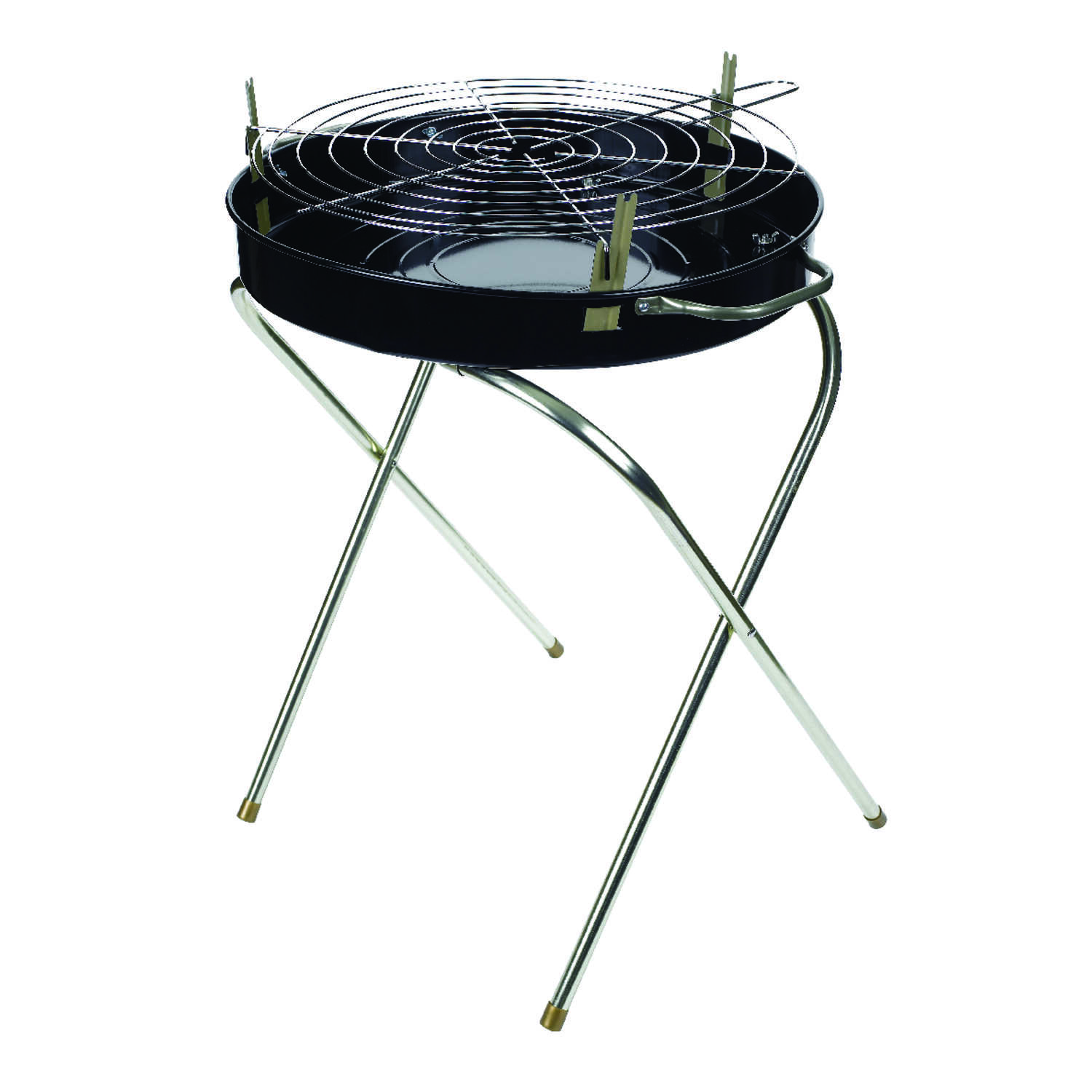 Marsh Allen  Fold-A-Matic  Charcoal  Portable  Grill  Black  18 in.