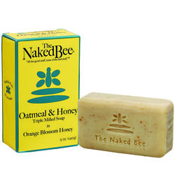 The Naked Bee  Orange Blossom Honey Scent Antibacterial Bar Soap  5 oz.