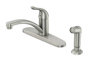 OakBrook  Pacifica  Single Handle Kitchen  Brushed Nickel  Kitchen Faucet  Side Sprayer Included