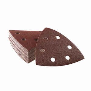 Bosch  3-3/4 in. L x 3.75 in. W 120 Grit Medium  Aluminum Oxide  Detail Sanding Triangle  25 pk