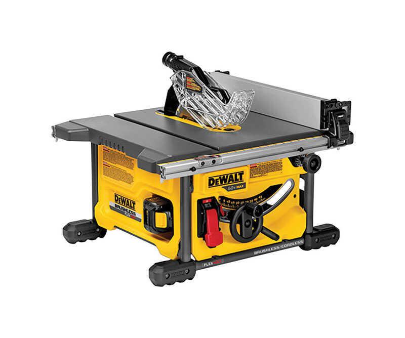 DeWalt Flexvolt 8-1/4 in. Cordless Table Saw 13 amps 60 volt 5800 rpm