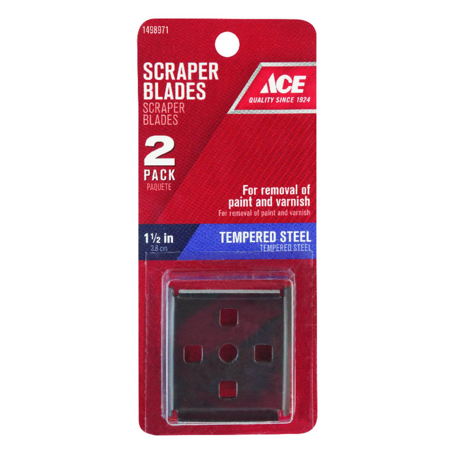Ace  1-1/2 in. W Tempered Steel  4-Edge  Scraper Blade