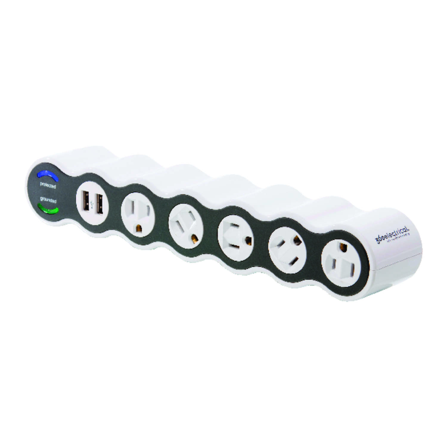 360 Electrical  2160 J 4 ft. L 5 outlets Surge Protector