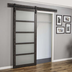 Renin  84 in. H x 36 in. W Pavilion Barn Door