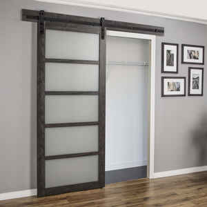 Renin  36 in. W x 84 in. H Pavilion Barn Door