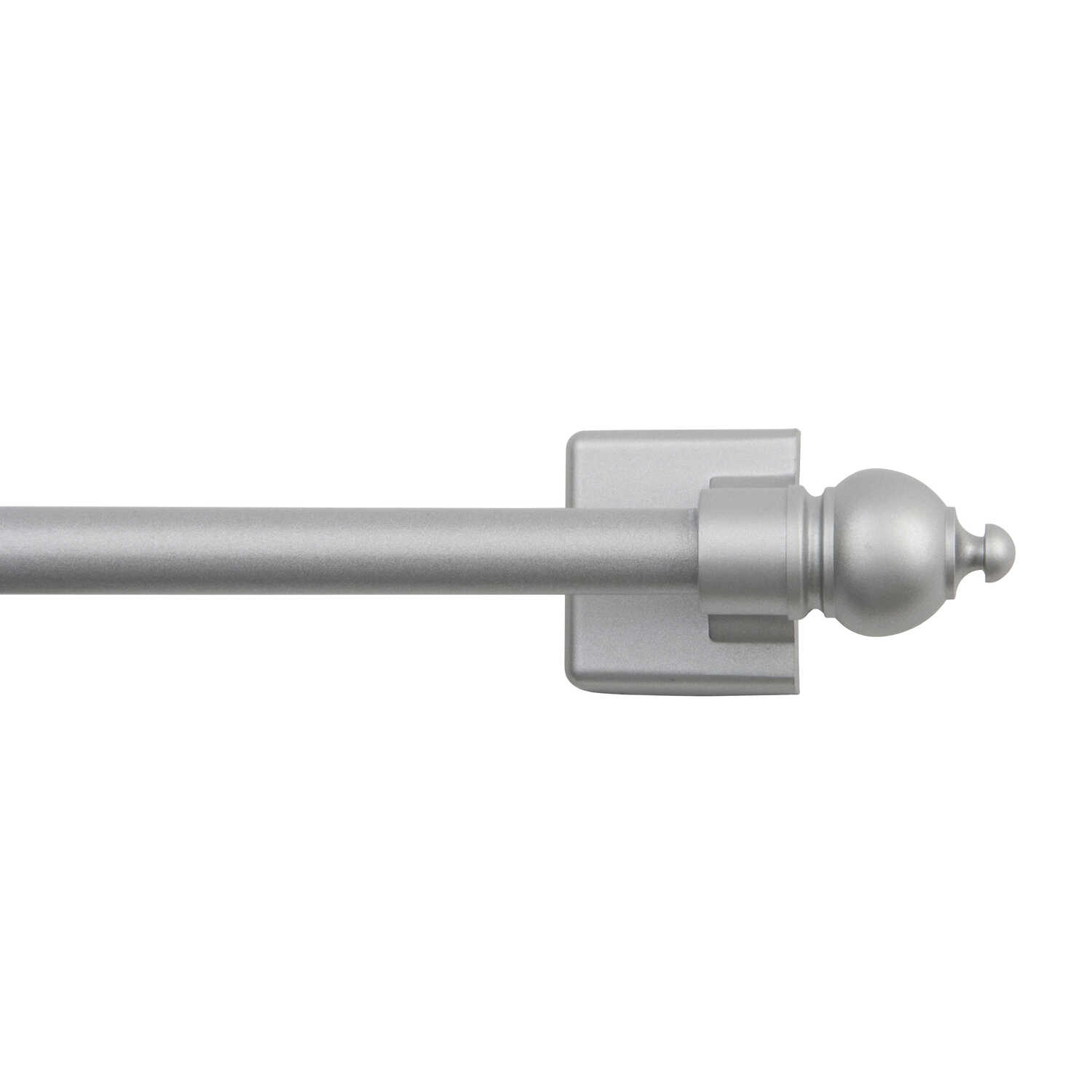 Kenney  Silver  Magnet Cafe Rod  28 in. L Satin Silver