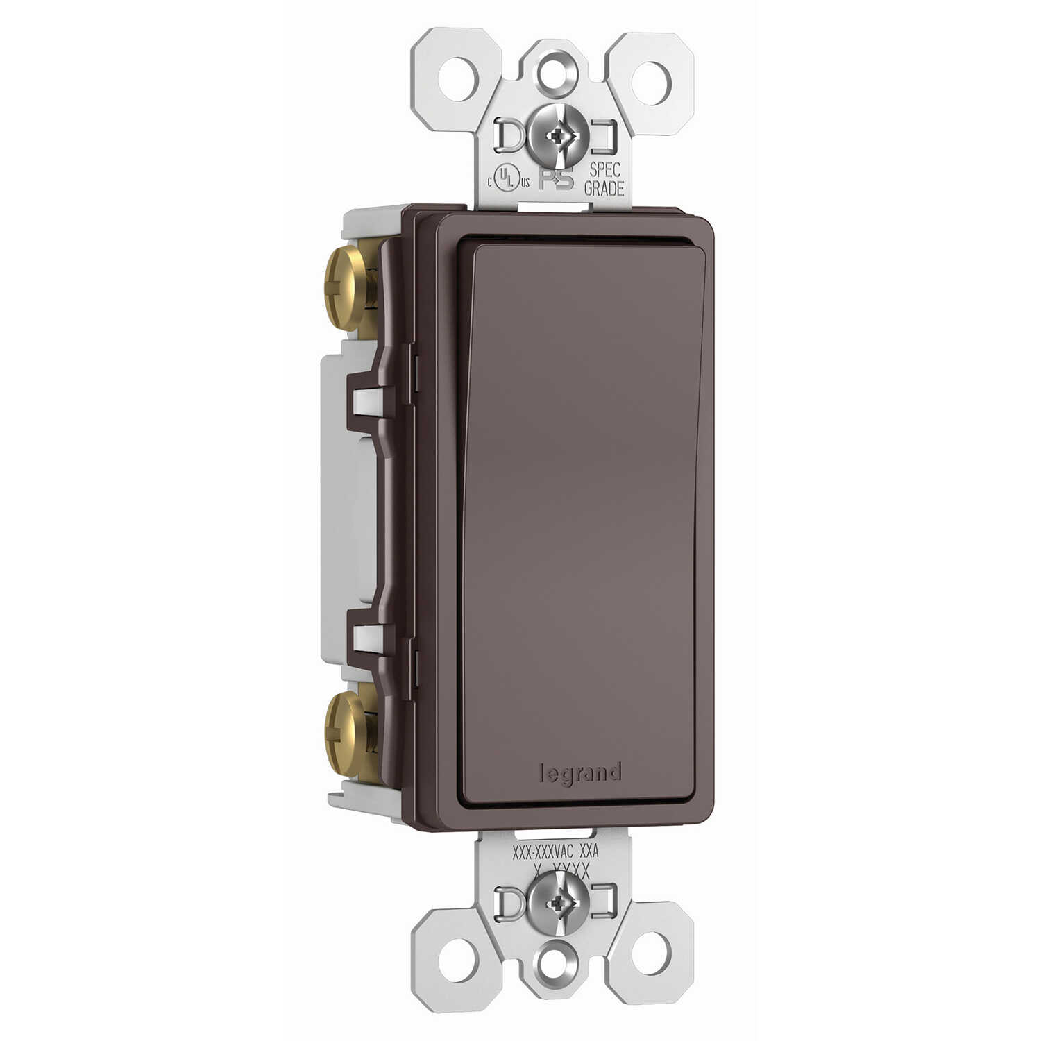 Legrand  15 amps Paddle  Switch  Dark Bronze  1 pk Radiant