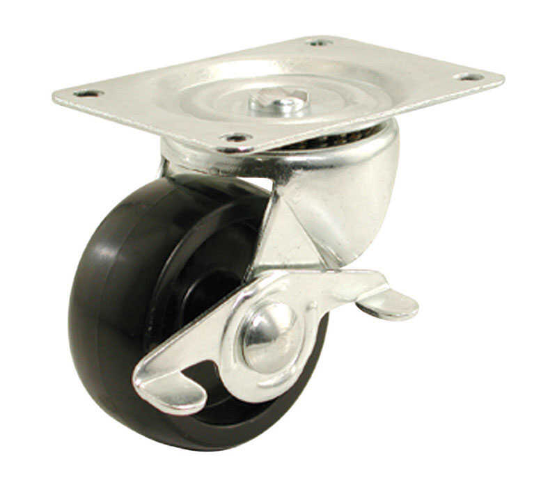 Shepherd  2 in. Dia. Swivel Polypropylene  Caster  125 lb. 1 pk