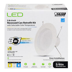 FEIT Electric White 5 and 6 in. W Metal LED Retrofit Kit 11.3 watts