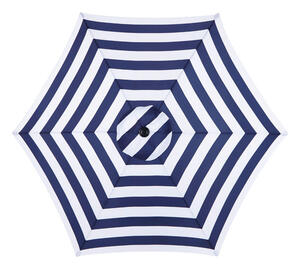 Living Accents  MARKET  9 ft. Tiltable Navy Blue Stripe  Patio Umbrella